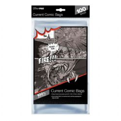 COMIC BAGS -  CURRENT SIZE COMIC BAGS (100) (6 7/8