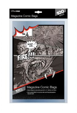 COMIC BAGS -  MAGAZINE SIZE BAGS (100) (8 3/4