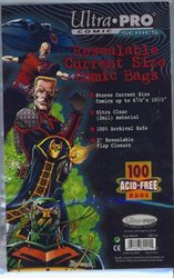 COMIC BAGS -  RESEALABLE CURRENT SIZE COMIC BAGS (100) (6 7/8