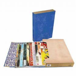 COMIC BOOK FOLIO -  COMIC BOOK STOR FOLIO ART (BLUE)
