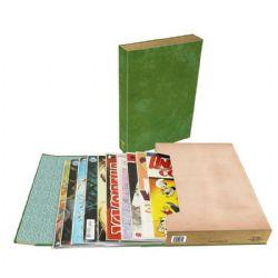 COMIC BOOK FOLIO -  COMIC BOOK STOR FOLIO ART (GREEN)