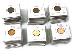 COMPLETE COLLECTIONS -  1-CENT COIN COMPLETE COLLECTION FROM 1920 TO 2012
