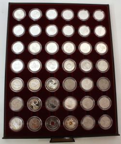 COMPLETE COLLECTIONS -  25-CENT COIN COMPLETE COLLECTION FROM 1999 TO 2004 - PROOF-LIKE, SPECIMEN AND PROOF FINISH
