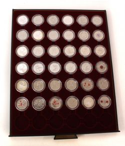 COMPLETE COLLECTIONS -  25-CENT COIN COMPLETE COLLECTION FROM 2005 TO 2010 - BU, PL, SPECIMEN OR PROOF FINISH