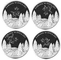 CONSTELLATIONS -  SET OF 4-COIN - BIG AND LITTLE BEAR CONSTELLATIONS -  2006 CANADIAN COINS