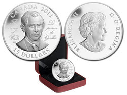 CONTINUITY OF THE CROWN -  H.R.M. PRINCE CHARLES OF WALES -  2011 CANADIAN COINS 03