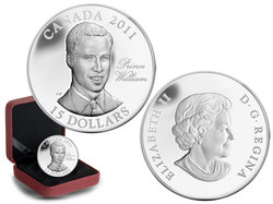CONTINUITY OF THE CROWN -  H.R.M. PRINCE WILLIAM OF WALES -  2011 CANADIAN COINS 02