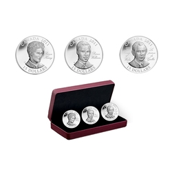 CONTINUITY OF THE CROWN -  THREE COINS SET -  2011 CANADIAN COINS