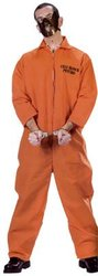 COPS AND ROBBERS -  CELL BLOCK PSYCHO COSTUME (ADULT - ONE-SIZE) 9145