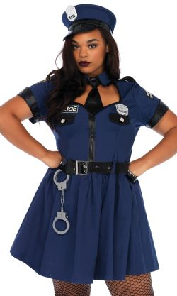 COPS AND ROBBERS -  FLIRTY COP COSTUME (ADULT)