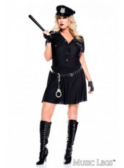 COPS AND ROBBERS -  LAW ENFORCER COSTUME (ADULT - PLUS SIZE)