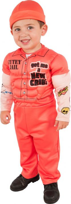 COPS AND ROBBERS -  MUSCLE MAN PRISONNER COSTUME (CHILD)