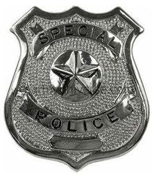 COPS AND ROBBERS -  POLICE DELUXE BADGE - SILVER