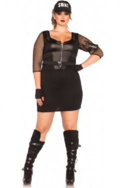COPS AND ROBBERS -  S.W.A.T. OFFICER COSTUME (PLUS SIZE)