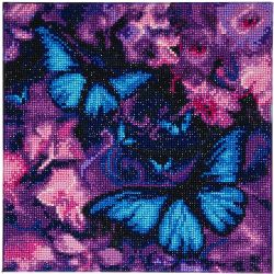 CRAFT BUDDY -  BLUE VIOLET BUTTERFLIES (12