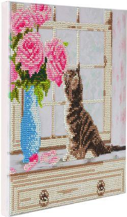 CRAFT BUDDY -  CAT & FLOWERS (12