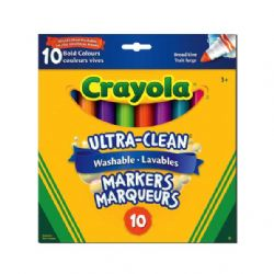 CRAYOLA -  10 ULTRA CLEAN BOLD MARKERS BROAD LINE