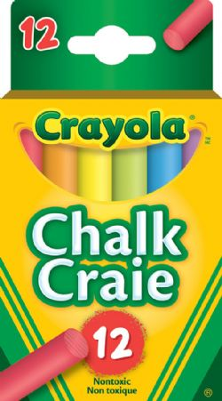 CRAYOLA -  12 COLORED CHALK