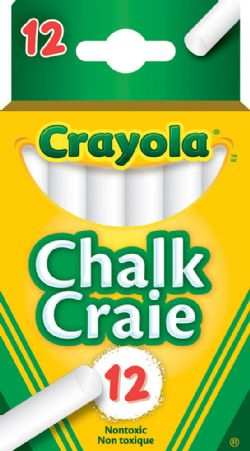 CRAYOLA -  12 WHITE CHALK