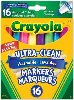 CRAYOLA -  16 WASHABLE MARKERS