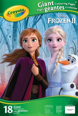 CRAYOLA -  18 GIANT COLOURING PAGES -  FROZEN II