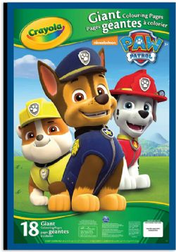 CRAYOLA -  18 GIANT COLOURING PAGES -  PAW PATROL