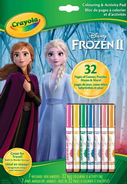 CRAYOLA -  32 PAGES COLOURING & ACTIVITY PAD -  FROZEN II
