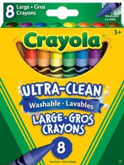 CRAYOLA -  8 LARGE WASHABLE CRAYONS