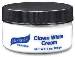 CREAM MAKEUP -  CLOWN WHITE - CREAM - 8 OZ / 224 GM