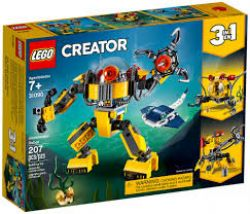 CREATOR -  UNDERWATER ROBOT (3 IN 1) (207 PIECES) 31090