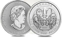 CREATURES OF THE NORTH -  KRAKEN - 2 OUNCES FINE SILVER COIN -  2020 CANADIAN COINS 01