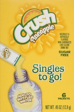 CRUSH -  DRINK MIX TO GO - PINEAPPLE (6 PACKETS)