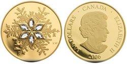 CRYSTAL SNOWFLAKES -  CRYSTAL SNOWFLAKE -  2006 CANADIAN COINS 01