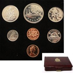 CUSTOM SETS -  1977 CUSTOM SET - FULL WATER LINES, DETACHED JEWELS -  1977 CANADIAN COINS 07