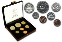 CUSTOM SETS -  1977 CUSTOM SET - SHORT WATER LINES, DETACHED JEWELS -  1977 CANADIAN COINS 07