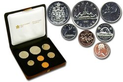 CUSTOM SETS -  1980 CUSTOM SET -  1980 CANADIAN COINS 10