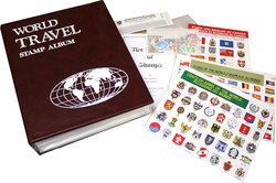 CWS WORLDWIDE -  WORLD TRAVEL - POSTAGE STAMP COLLECTING KIT