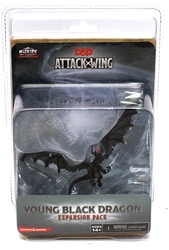 D&D MINIATURES -  YOUNG BLACK DRAGON EXPANSION PACK -  D&D ATTACK WING MINIATURES GAME