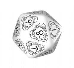 D20 LIFE COUNTER, WHITE AND BLACK