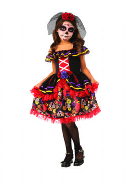DAY OF THE DEAD -  DAY OF THE DEAD GIRL COSTUME (CHILD)