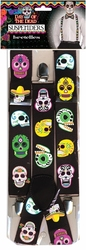 DAY OF THE DEAD -  SUSPENDERS - BLACK