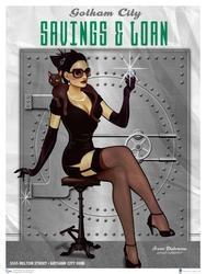 DC BOMBSHELLS -  ART PRINT CATWOMAN