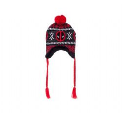 DEADPOOL -  LOGO FAIR ISLE BEANIE - RED/GREY