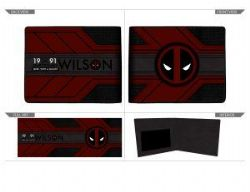DEADPOOL -  WALLET WITH LOGO (BLACK/RED)