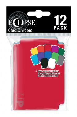 DECK DIVIDERS -  CARD DIVIDERS - 12 COLORS (12)