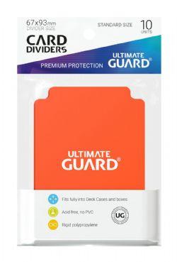 DECK DIVIDERS -  CARD SLEEVES DIVIDERS ORANGE (10)