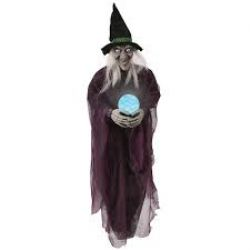 DECORATIONS -  LIGHT-UP PSYCHIC WITCH