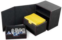 DELUXE DECK BOX -  ALCOVE VAULT SUEDE JET BLACK (100)