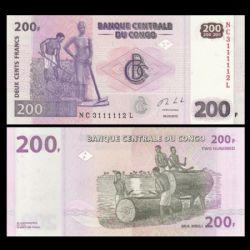 DEMOCRATIC REPUBLIC OF THE CONGO -  200 FRANCS 2013 (UNC)