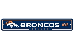 DENVER BRONCOS -  STREET SIGN